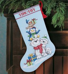Стопка, , новогодний сапожок. Вышивка / Embroidery. Рождество, Новый год. Kits for embroidery. Набор для вышивки крестом Dimensions. Поделки своими руками, подарок.