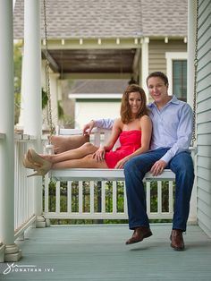porch swing engagement- there are swings, we could do this!
