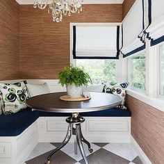 Breakfast Nook with L Shaped Banquette