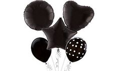 Bilderesultat for black balloon bouquet