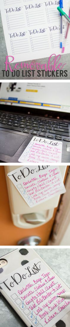 Removable to-do list stickers - perfect for helping yourself, roommates, and family get everything done