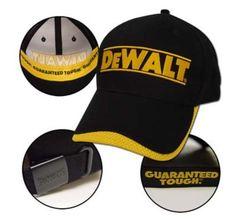 28061c775af NEW DeWalt Power Tools Racing Baseball Cap Hat - One Size Fits All