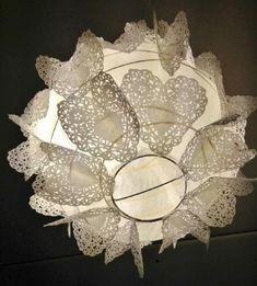 1000 images about paper hearts - Luminaire boule papier ...
