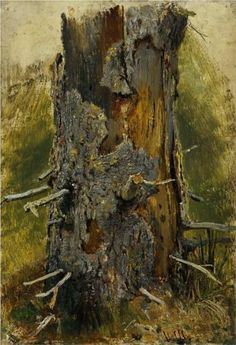 The bark on the dry trunk - Ivan Shishkin