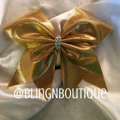 Simply Gold  Gold Cheer Bow by BlingNBoutique on Etsy