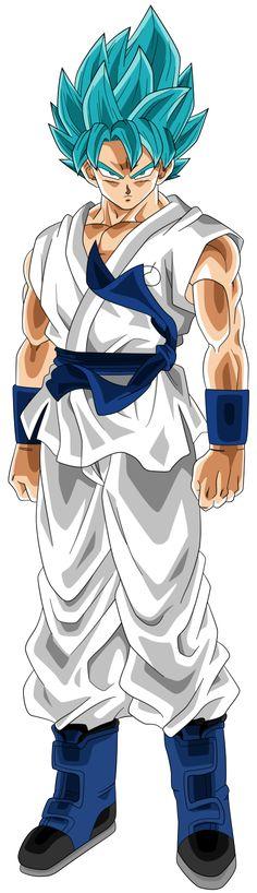 SSGSS Goku (Dragonball Heroes) White Gi by RayzorBlade189