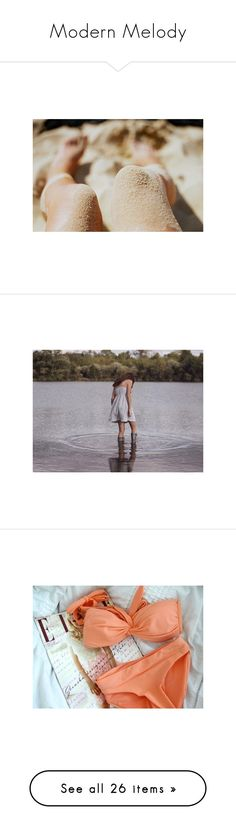 """Modern Melody"" by storycosmicjasmine ❤ liked on Polyvore featuring pictures, photos, backgrounds, summer, brown, filler, pics, icons, mermaid and people"