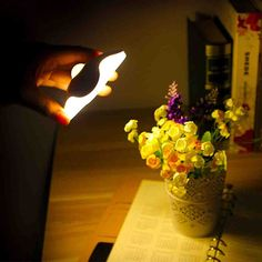 USB Rechargeable LED Touch Lamp Multi-Purpose Foldable Bedside Lamp Rose Red