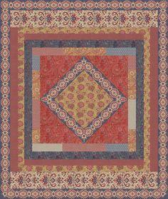 Kaari Meng Haute Bohemian Quilt Pattern. Project Size: 57 x 65