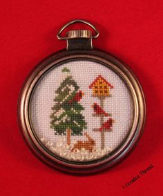 CREATIVE THREAD February 2016 Small SAL Designer: Little House Needlework Design: Cardinal Winter (partial) Fabric: 32ct Evenweave over 1 Floss: DMC & VMST
