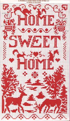 home sweet home #cross #stitch #pattern #free