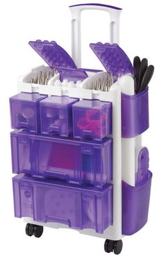 This Wilton's Ultimate Tool Caddy is really cool, not just for cake decorators, but I think this would work for some crafters and some types of artists.