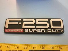 Ford F-250 Lariat Super Duty Pickup 4x4 Factory Fender Emblem