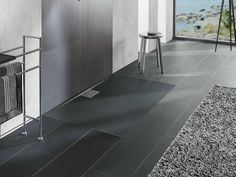 Flush fitting extra flat acrylic shower tray ARCHITECTURA METALRIM by Villeroy