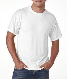 jerzees(R) adult dri-power(R) sport t-shirt - white (m)