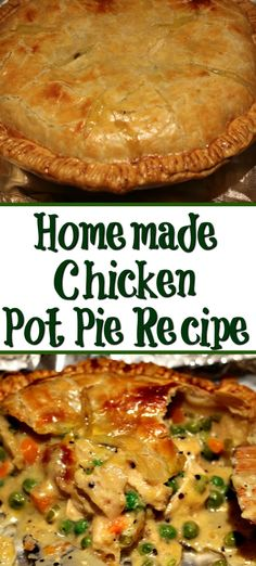 This Easy Homemade Chicken Pot Pie Recipe is perfect comfort food for fall weather! Mix together the - This Easy Homemade Chicken Pot Pie Recipe is perfect comfort food for fall weather! Homemade Chicken Pot Pie Recipe Easy, Chicken Recipes, Pot Recipe, Homemade Pie, Easy Chicken Pot Pie, 2 Crust Chicken Pot Pie Recipe, Chicken Pot Pie Recipe Pillsbury, Easy Supper Ideas Chicken, Chicken Pop Pie