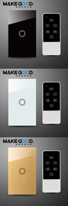 US/AU standard,Makegood, rystal Glass Panel Touch Light Switch,110~250V, RF433 Wireless Remote Home Light Switch For Smart Home