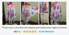 Buy it now! NEW Chiffon Poncho Overblouse Pink Blue Floral on White One Size Fits All | eBay #poncho