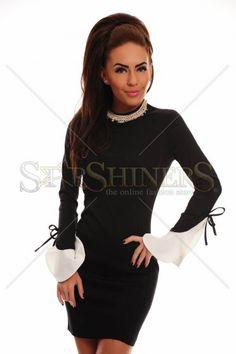 Attractive Sleeve Black Dress