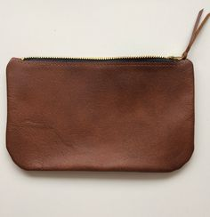 Small Leather Zippered Pouch Handmade Genuine Top Grade Leather 47deba0efe9a7