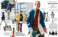 FASHION ISSUE みんなのマイ・ウェイ。 — Popeye No. 858 試し読みと目次 | POPEYE | マガジンワールド Editorial Fashion, Editorial Design, Popeye Magazine, Mens Fashion Winter Coats, Mens Fashion Magazine, Magazine Layout Design, Creative Instagram Stories, Japanese Street Fashion, Casual Street Style