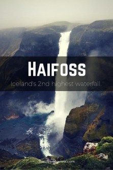 Haifoss - Second highest waterfall in Iceland. Places To Travel, Places To See, Travel Destinations, Iceland Adventures, Portugal, Iceland Waterfalls, Iceland Travel, Travel Europe, Trip Planning