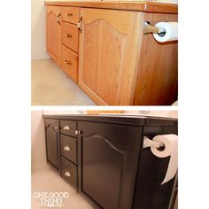 Give Your Old Bathroom Cabinets A Facelift!