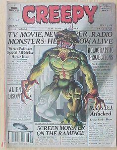 Creepy Magazine June 1978 #98 Warren Pub Fine Vintage Horror Comics Old Monsters