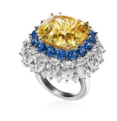 Yellow sapphire ring by Harry Winston