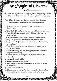 Magick Spells:  50 #Magickal Charms 01.