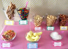 I designed the Ice Cream Party Parlour Banner background to match the invitations and other printable decor and had it printed on vinyl. Lila Party, Pj Party, Party Time, 13th Birthday Parties, Birthday Ideas, 13 Birthday, Ice Cream Buffet, Sundae Bar, Ice Cream Social