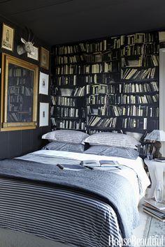 Fake bookshelves.  - HouseBeautiful.com
