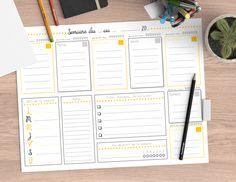 Aujourd'hui, je vous propose un semainier à imprimer chez vous. Sobre, coloré et bien organisé, il vous aidera à programmer votre semaine jour par jour.