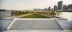 Laatste ontwerp Louis Kahn, Franklin D. Roosevelt Four Freedoms Park, New York, Fotografie: Paul Warchol