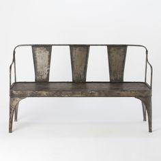 Burnished Iron Bench