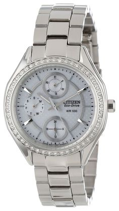 9a629cd6405 Citizen Women s FD1060-55A POV 2.0 Eco-Drive Stainless Steel Swarovski  Crystal Watch  Amazon.ca  Watches