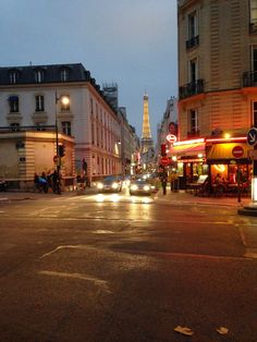 7th arrondissement a view of the Eiffel Tower from the Street thrifty chic LA | life + travel + style: A Walk Through Paris...