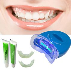 2015 Hot & New White Light Teeth Whitening Tooth Gel Whitener Health Oral Care Toothpaste Kit For Personal Dental Care Healthy Professional Makeup Brush Set Teeth Whitening Remedies, Teeth Whitening System, Best Teeth Whitening, Whitening Kit, Dental Teeth, Dental Care, White Light Teeth, White Teeth, Teeth Bleaching