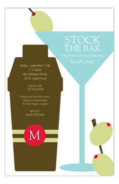 The wedding is coming up and you have to send out cards for all the events leading up to the weddings. Find the perfect stock the bar shower invites. The Shaken Not Stirred Invitation is available on Polka Dot Design? Couples Wedding Shower Invitations, Shaken Not Stirred, Couple Shower, Liquor, Polka Dots, Invites, Happy, Cards, Alcohol