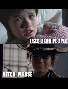 Carl! Walking Dead. Oh Carl.