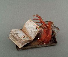 OOAK 1:12 Scale Dollhouse Miniature Creepy Haunted Laboratory Experiment Potion