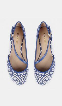 Ballet flats - Yolanda - Blue Crema