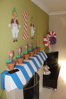 Willy Wonka Party ~ Willy Wonka, Wonka Wonka, Aaliyah Birthday, 10th Birthday, Birthday Celebration, Wonka Chocolate Factory, Preschool Birthday, Kids Party Themes, Birthday Party Themes