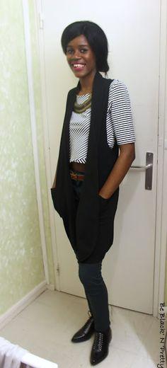 Be Black'n'Pretty avait une obsession : trouver une #veste longue sans manches (15€ à BABOU)
