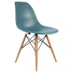 Bureau style scandinave tiroirs bleu lagon aquila for Chaise eames transparente