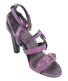 Loving this Ultraviolet Strappy Leather Sandal - Women on #zulily! #zulilyfinds