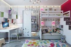 Aménagement chambre d'enfant dans un appartement | Design Feria