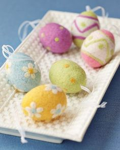 Felt Easter Egg Ornaments