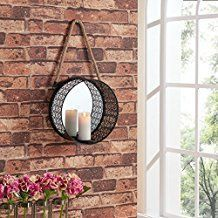 Best Rope Mirrors and Nautical Wall Decor! Discover the top-rated nautical themed rope wall decorations and rope themed mirrors. Mirror Candle Sconce, Rope Mirror, Round Candles, Pillar Candles, Smart Tiles, Nautical Wall Decor, Wall Candle Holders, Beveled Mirror, Round Mirrors