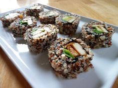 Super Healthy Quinoa Spicy Tofu Sushi